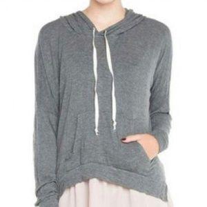 Brandy Melville Grey Pullover Hoodie